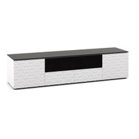 Salamander Milan 245 Quad-Width AV Cabinet in White / Black Glass