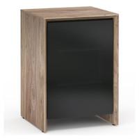 Salamander Barcelona 317 Single-Width AV Cabinet in Natural Walnut / Black Glass