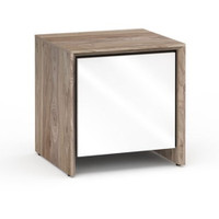 Salamander Barcelona 217 Sub Enclosure Single-Width AV Cabinet in Natural Walnut / Gloss White