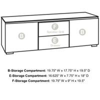 Salamander Barcelona 236 Triple-Width AV Cabinet in Natural Walnut / Black Glass