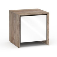Salamander Barcelona 217 Single-Width AV Cabinet in Natural Walnut / Gloss White