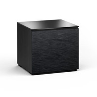 Salamander Chicago 217 Single-Width AV Cabinet in Black Oak