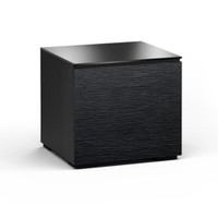 Salamander Chicago 217 Sub Enclosure Single-Width AV Cabinet in Black Oak