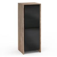 Salamander Barcelona 617 Single-Width AV Cabinet in Natural Walnut / Black Glass