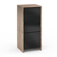 Salamander Barcelona 517 Single-Width AV Cabinet in Natural Walnut / Black Glass