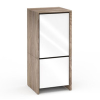 Salamander Barcelona 517 Single-Width AV Cabinet in Natural Walnut / Gloss White
