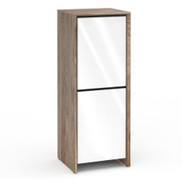 Salamander Barcelona 617 Single-Width AV Cabinet in Natural Walnut / Gloss White