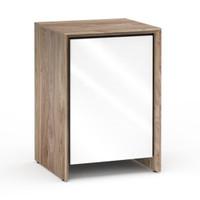 Salamander Barcelona 317 Single-Width AV Cabinet in Natural Walnut / Gloss White