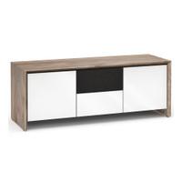 Salamander Barcelona 236 Triple-Width AV Cabinet in Natural Walnut / Gloss White