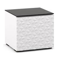 Salamander Milan 217 AV Cabinet in White w/ 3D Geometric Pattern Doors