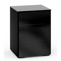 Salamander Oslo 317 Single-Width AV Cabinet in Black Glass