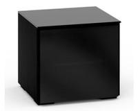 Salamander Oslo 217 Single-Width AV Cabinet in Black Glass
