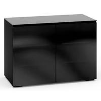 Salamander Oslo 323 Double-Width Rack Mount AV Cabinet in Black Glass