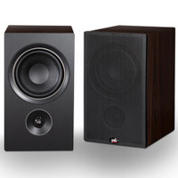 PSB Alpha P5 Bookshelf Speakers in Black Ash