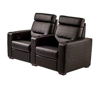 Salamander TC3 AV Basics 2 Seat Black Leather Motorized Reclining Home Theater Seating