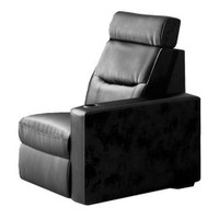 Salamander TC3 AV Basics Left End Chair Black Leather Motorized Reclining Home Theater Seating