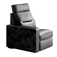 Salamander AV Basics TC3 Right End Chair Black Leather Motorized Reclining Home Theater Seating