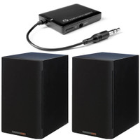 Paradigm Bundle: Shift A2 Powered Bookshelf Speakers (Storm Black Satin - Pair) and BD1 Bluetooth Receiver.