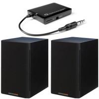 Paradigm Bundle: Shift A2 Powered Bookshelf Speakers (Storm Black Satin - Pair) and BD1 Bluetooth Receiver.