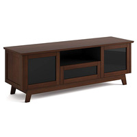 Salamander AV Basics SDAV5 7225 Triple-Wide A/V Cabinet in Medium Walnut