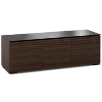 Salamander Zurich 237 Triple-Width AV Linear Texture Cabinet in Brown