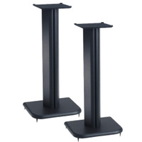 Sanus BF24B 24 Inch Speaker Stands (Pair) Basic Series For Medium Bookshelf Speakers
