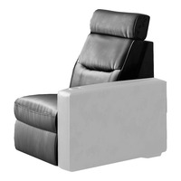 Salamander AV Basics TC3 Black Leather Motorized Reclining Home Theater Armless Chair
