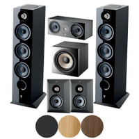 Focal Chora 5.1.2 System Bundle: 2 x Chora 826 Dolby, 1 x Chora Center, 2 x Chora Surround, 1 x Sub 1000 F