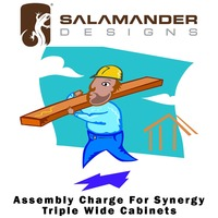 Salamander Designs Synergy Assembly Charge For Synergy Triple Wide Cabinets