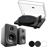 Pro-Ject and Kanto Bundle: Debut Carbon Evolution Audiophile Turntable and YU6 Powered Speakers with Bluetooth® and Phono Preamp