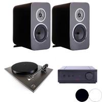 Rega Bundle: Kyte Two Way Bookshelf Speakers, IO Integrated Amplifier and Planar 1 Turntable