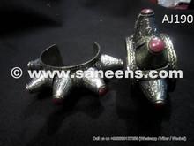 kuchi artwork bangles with coral stones