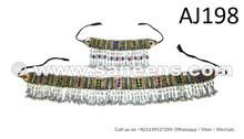 afghan kuchi belts and necklaces set