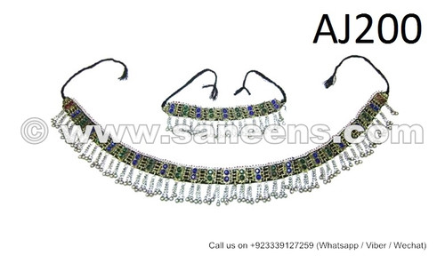 wholesale kuchi jewelry set, tribal fest belts and necklaces