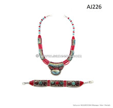 nepal tribal handmade necklaces bracelets with stones