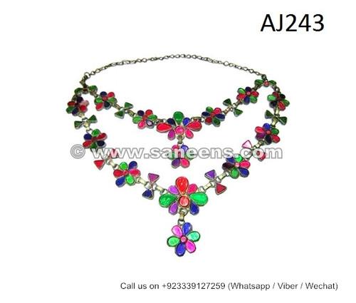 afghan kuchi handmade necklaces chokers