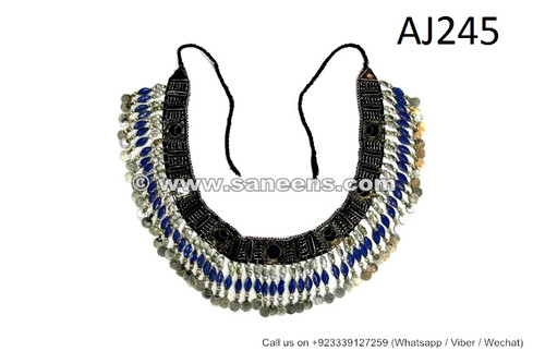 afghan kuchi belts with lapis stones