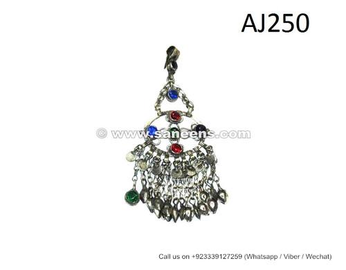 afghanistan handmade jewelry, pashtun traditional pendants