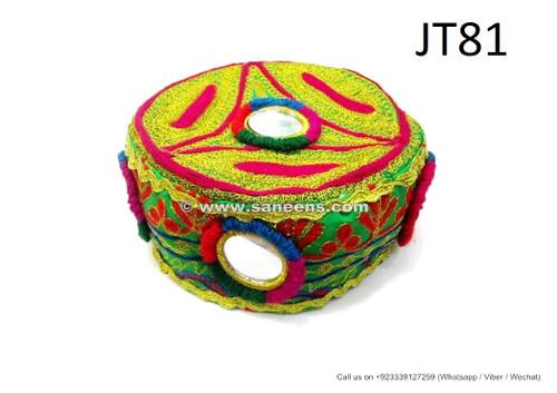 afghan fashion handmade caps, tribal artwork mirrors work caps hats