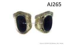 afghan kuchi jewelry bangles with large agate stone