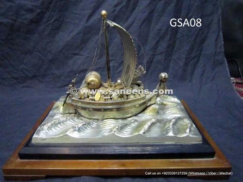 pure silver handmade yacht