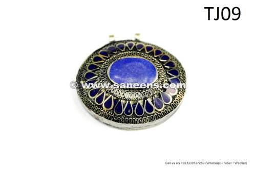 afghan kuchi pendants with lapis stone