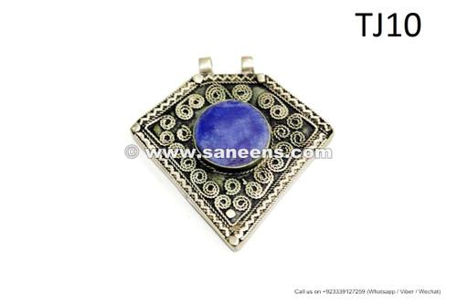 afghan kuchi tribal handmade pendants with lapis stone