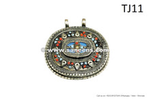 afghan kuchi tribal handmade pendants for bellydance belts necklaces
