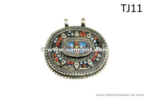 afghan kuchi tribal handmade pendants for bellydance belts necklaces