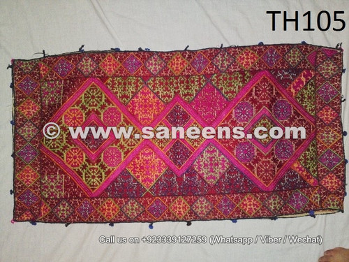 silk work hand embroidered swat pillow covers