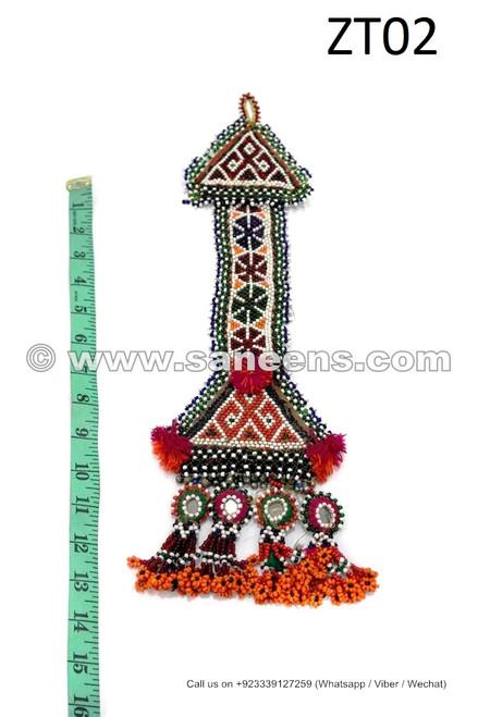 afghan kuchi beadwork tassels