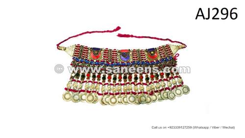 afghan kuchi tribal handmade chokers necklaces