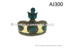 afghan muslim pashtun wedding dance crowns with turquoise stones