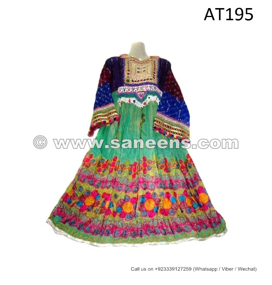 Afghan Embroidery Work Clothes Frocks Wholesale Saneens Tribal